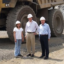 Jim with colleagues at an audit in the US
