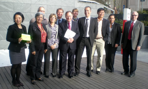 Jim as Co-Chair of CSI Task Force 3 on Health and Safety at his final meeting in Madrid