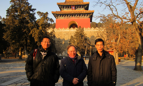 With CAA Colleagues, Ming Tombs, Beijing, Dec 2014